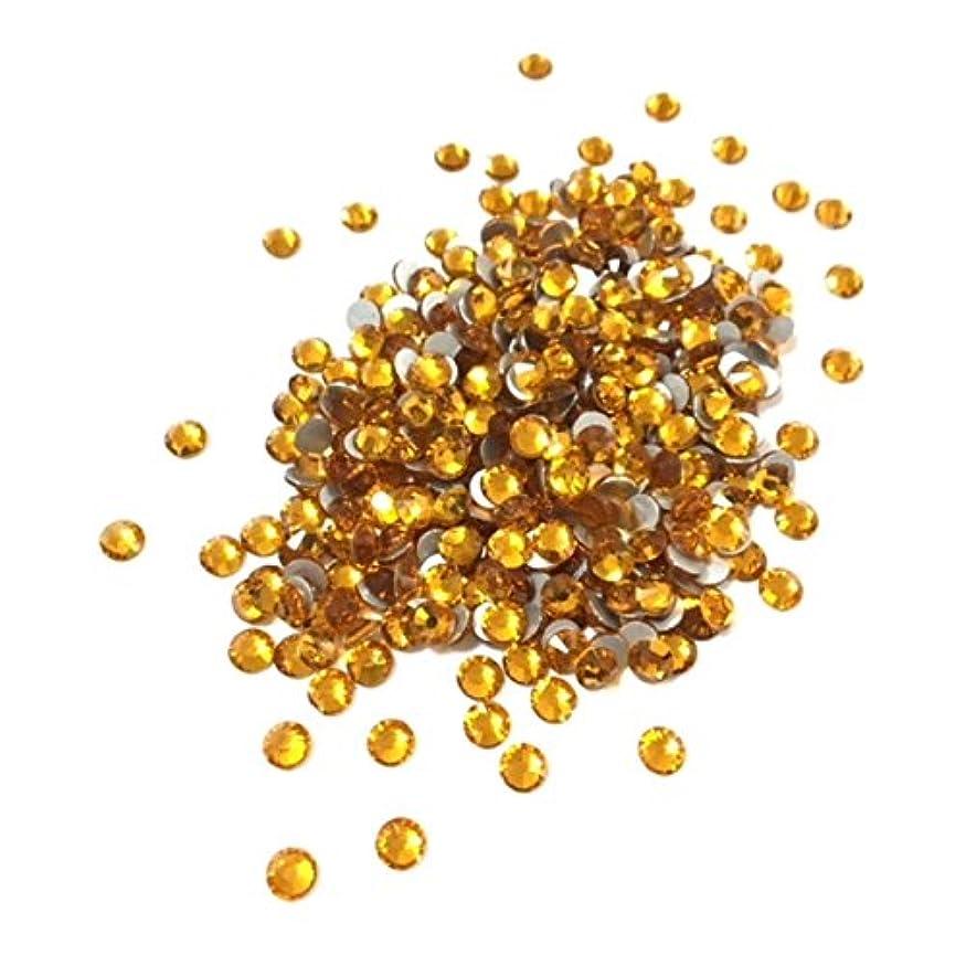 表現囲まれた天才【ネイルウーマン】最高品質ガラスストーン!スワロ同等の輝き! トパーズ 黄色 イエロー (約100粒入り) (SS8, トパーズ)