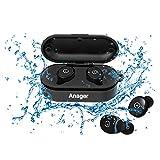 Bluetooth イヤホン 完全ワイヤレスイヤホン 片耳 防水 高音質ワイヤレススポーツイヤホン 運転 運動 シャワーなどに適用 日本語と英語説明書付き 防水進化版 IPX8対応 (両耳)