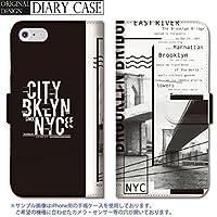 chatte noir Galaxy S8 ケース Galaxy S8 カバー ギャラクシー S8 ケース 手帳型 おしゃれ nyc NY ニューヨーク 都会 ロゴ ドクロ メンズ かっこいい A 手帳ケース SUMSUNG