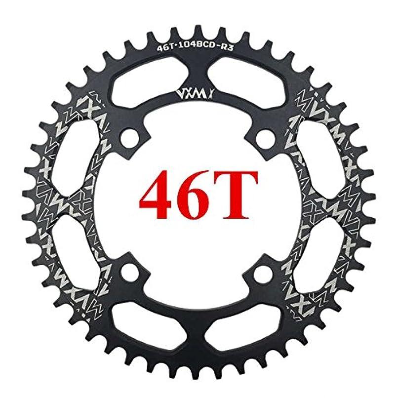 瞬時に勤勉辛いPropenary - 自転車104BCDクランクオーバルラウンド30T 32T 34T 36T 38T 40T 42T 44T 46T 48T 50T 52TチェーンホイールXT狭い広い自転車チェーンリング[ラウンド46T...