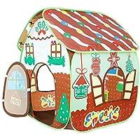Homfu 子供用テント キッズテント 折りたたみ  あそびと知育 秘密基地 室内室外テント こどもてんと お誕生日 出産祝いのプレゼント 収納バッグ付き