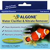 filter Algone 6 Pouches; Controls nitrates, Ammonia, Cloudy Water & Algae