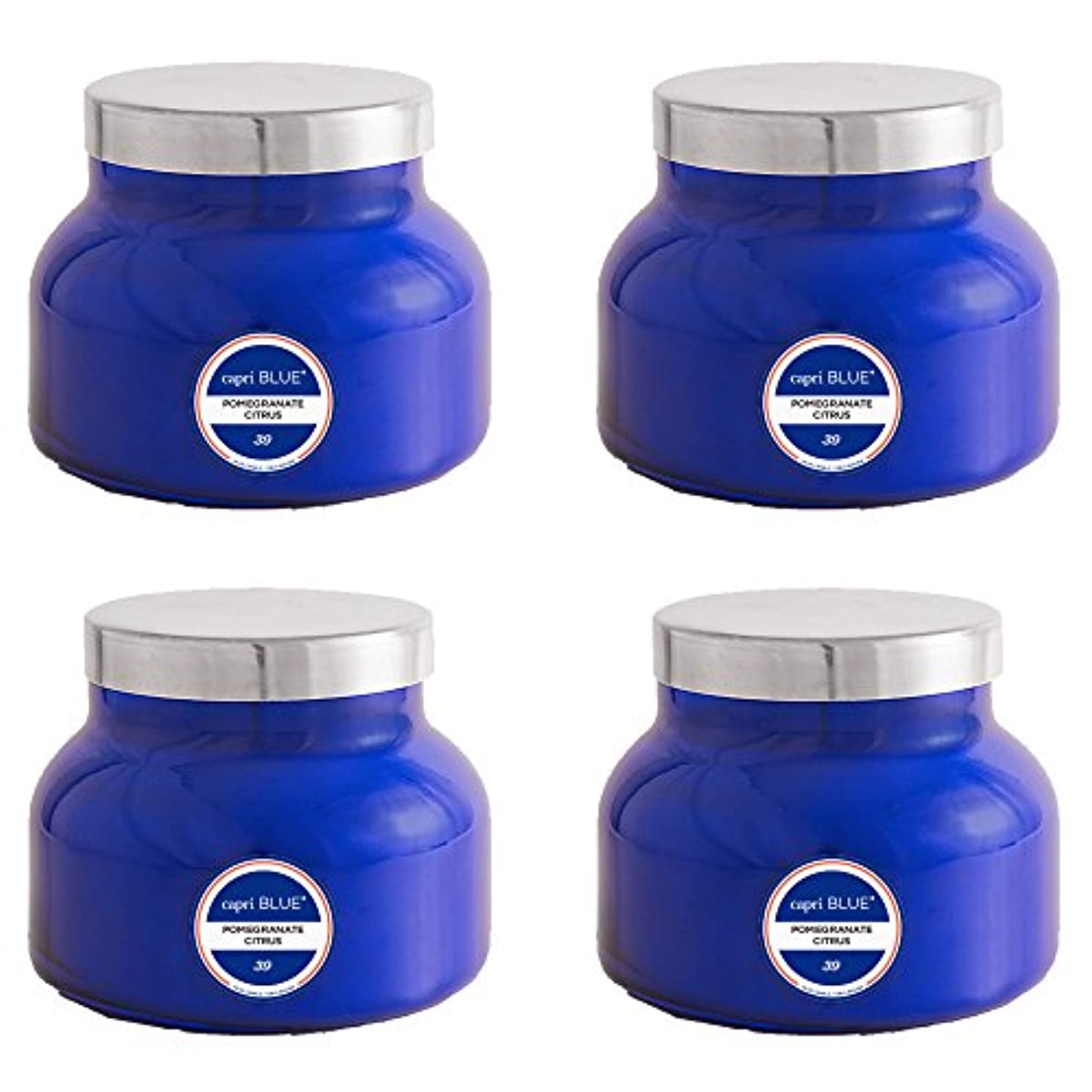 価値飲み込む人差し指カプリブルー19 oz Signature Pomegranate Citrus Jar Candle4パック、Volcano、1サイズ