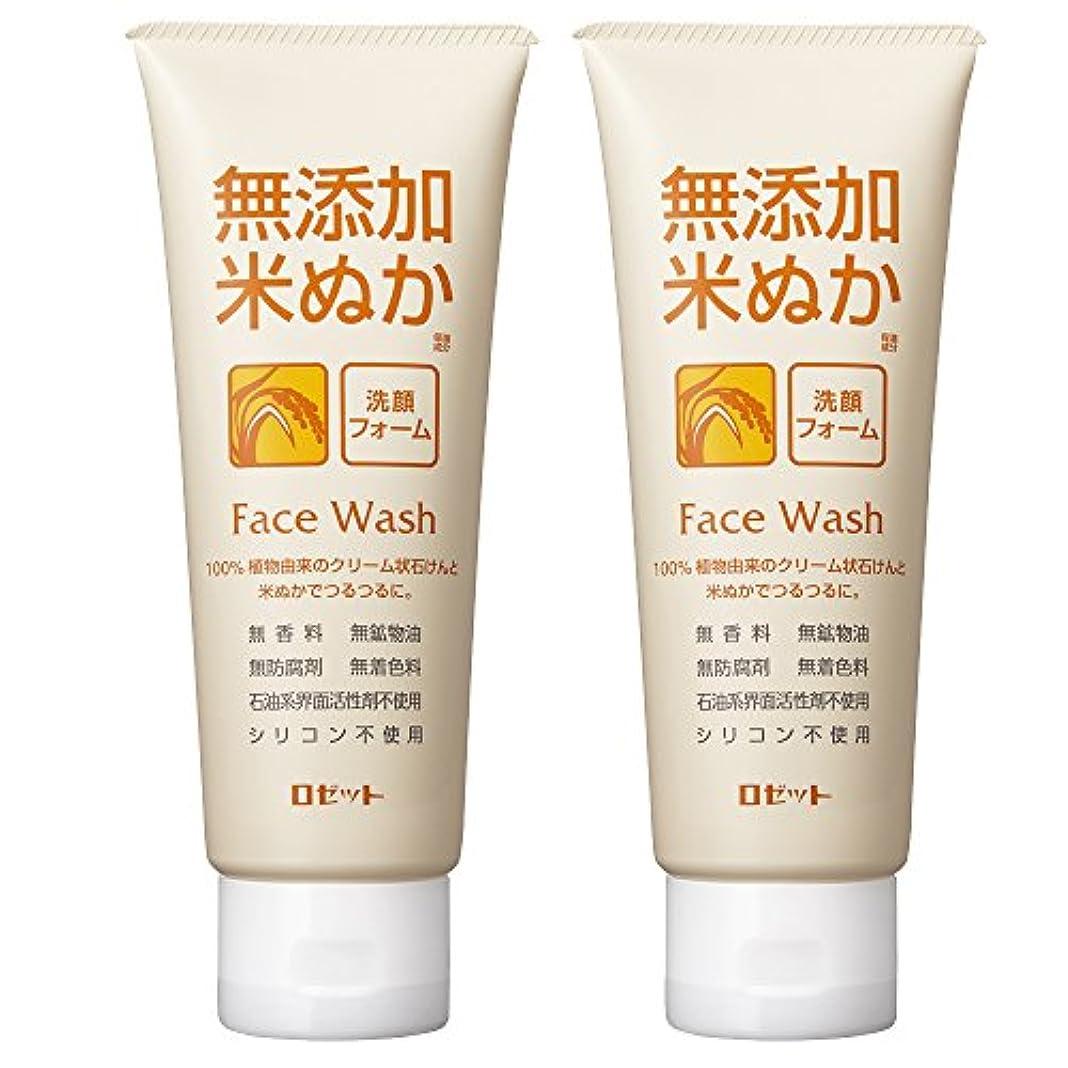事業ライセンス実験をするロゼット 無添加米ぬか 洗顔フォーム 140g×2個パック AZ