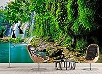 Minyose カスタム写真の壁紙風景の滝の壁紙は、リビングルームの寝室の3D壁紙のための絵画をカバー-200cmx140cm