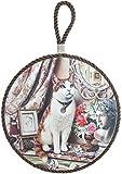 ダイカイ トリベット 鏡の前に座る猫 ブラウン φ16×D0.8×TH25cm 51300