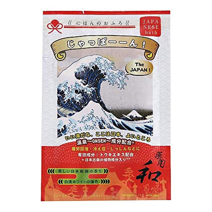 服ステッチ危険なにほんのおふろ じゃっぱーーん 美しい日本庭園の香り 25g