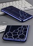 Honor8 ケース クリア TPU メッキ メタル調 オナー8 ソフトケースHONOR8-92B-Z-Q60926 (ブルー)