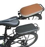 自転車 荷台 やわらか クッション 【 STTS 】 自転車架台用 リア キャリア シート カバー ワンタッチ 式 で 取り付け 簡単 (ブラウン)