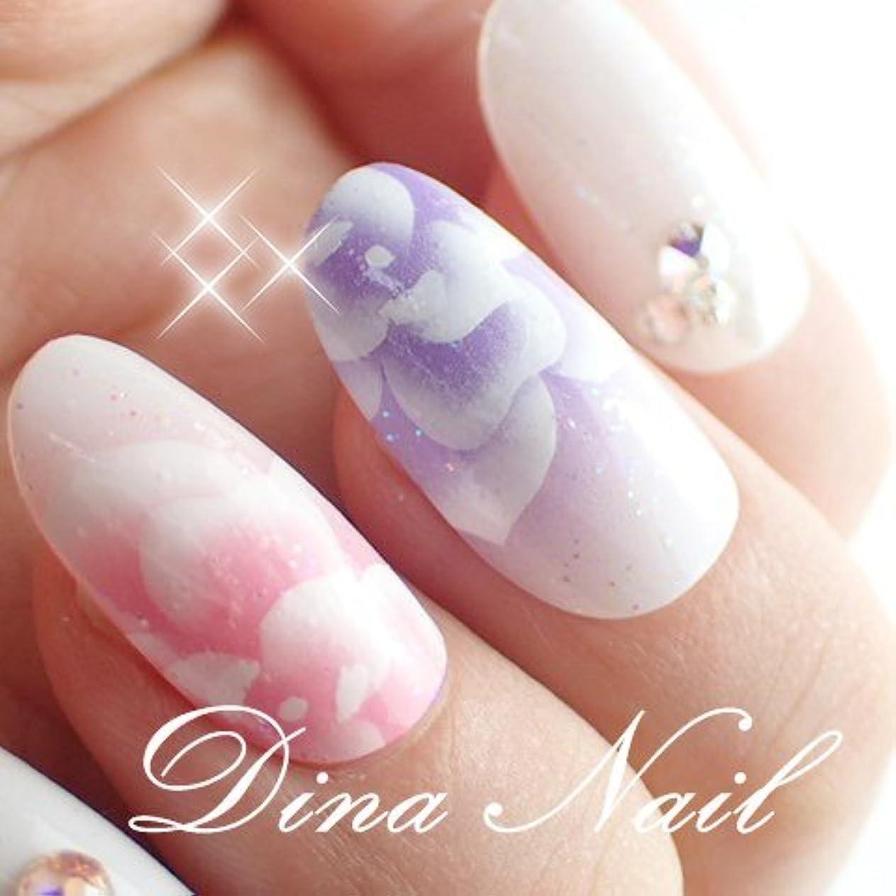 時代遅れ洗う作曲家DINAネイル ピンクパープル薔薇  ショートオーバルM(25468番) ネイルチップ