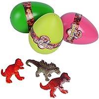 知育玩具 1 / 3Pcs T009 EVA楽しいかわいいおかしい小説マジックインキュベーション子供たちのために成長する恐竜の卵を孵化 黄