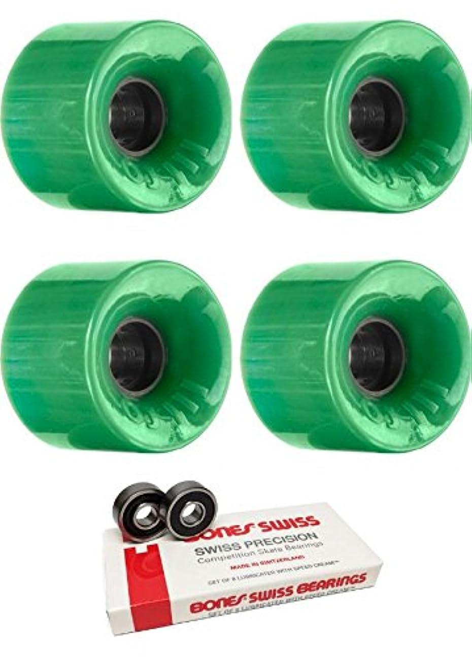 戻すコンデンサーどちらも60 mm OJ Wheels Hot JuiceスケートボードWheels with Bones Bearings – 8 mm Bones Swiss Skateboard Bearings – 2アイテムのバンドル