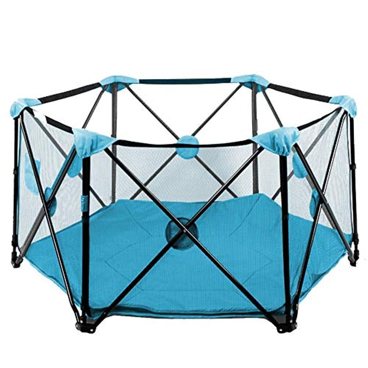 入る頭痛利用可能XJJUN ベビーサークル オーシャンボール おもちゃ 折りたたみ式 フェンス 高まり 安全性 通気性 安定した 旅行かばん 屋内 (Color : Blue, Size : 135x70cm)