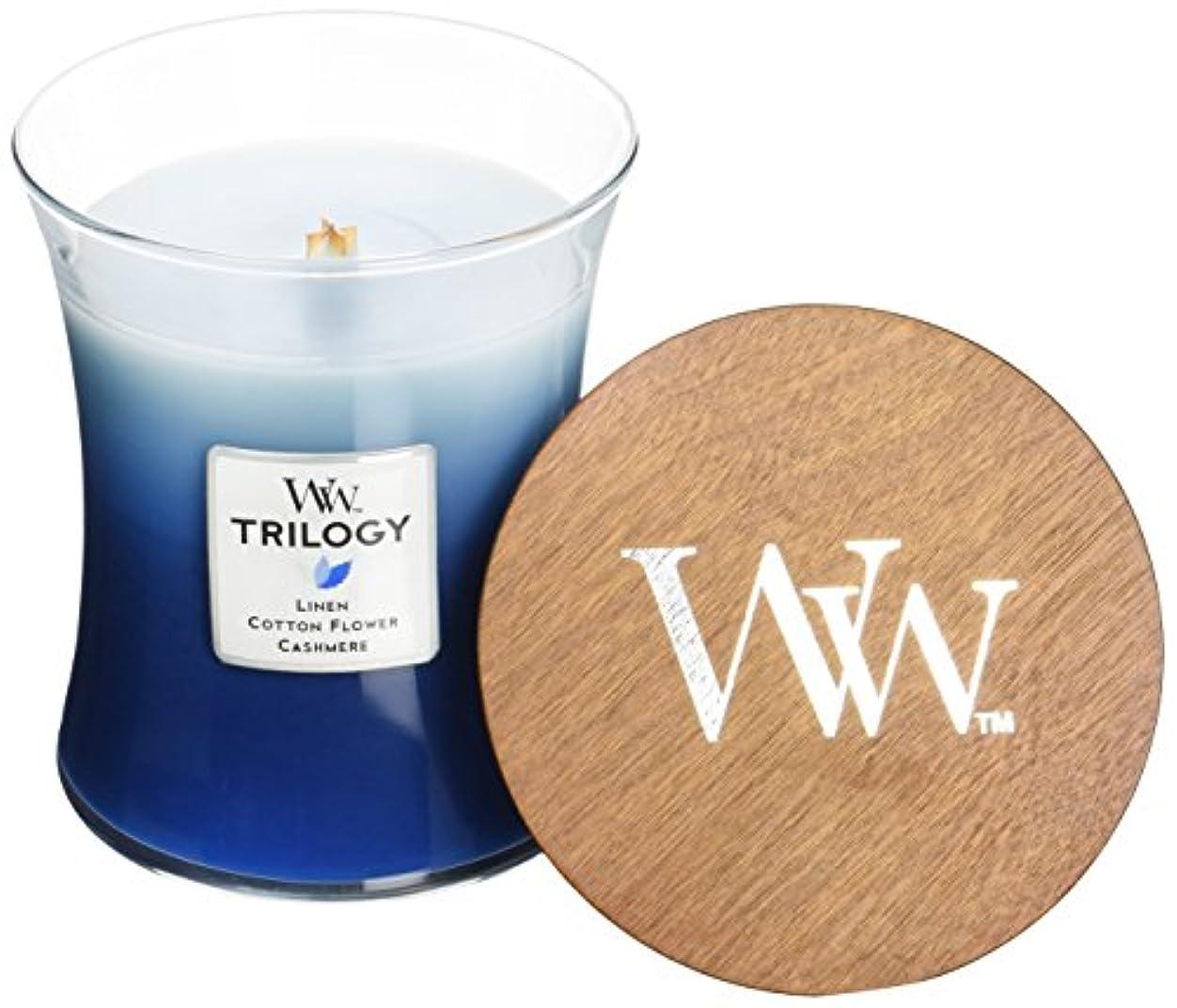 フィードオン翻訳する尊厳Wood Wick ウッドウィック トリロジージャーキャンドルMサイズ クローズライン