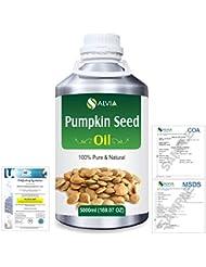 Pumpkin Seed Oil (Cucurbita Pepo) Natural Pure Undiluted Uncut Carrier Oil 5000ml/169 fl.oz.