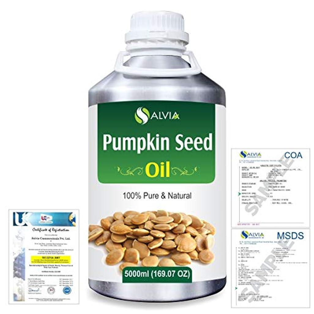 すばらしいです財団手紙を書くPumpkin Seed Oil (Cucurbita Pepo) Natural Pure Undiluted Uncut Carrier Oil 5000ml/169 fl.oz.