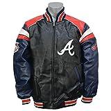 G-III(ジースリー) MLB アトランタ・ブレーブス ホーム チーム フルジップ プレザー ジャケット - M [並行輸入品]