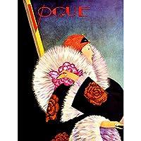Magazine Cover Vogue Woman Winter Coat Large Wall Art Poster Print Thick Paper 18X24 Inch 雑誌の表紙カバー女性冬壁ポスター印刷