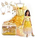 新作 ディズニープリンセス Disney Princess Belle Costume Accessory Set 2013 子供 キッズ コスチューム & アクセサリー セット ティアラ 指輪 ネックレス ブレスレット イヤリング 手袋 衣装 美女と野獣 ベル 120 130 Mサイズ 6-8歳