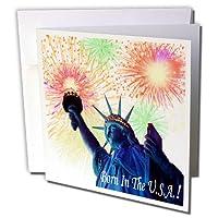 Edmond Hogge Jr 4th of July–Born In The U S A–グリーティングカード Set of 6 Greeting Cards