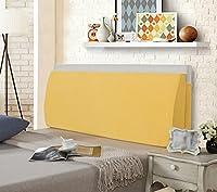 VercartソファーベッドLarge Filled三角形ウェッジクッションベッド背もたれPositioningサポート枕Reading枕オフィス腰椎パッド取り外し可能なカバー 78x4.7x19.5 inch (200*12*50cm) イエロー KDHY-022-HUANG-200