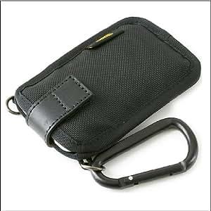 バンナイズ 胸ポケット に入れる派のための iPhone 、 ウォークマンX 、 iPod classic 、 iPod touch 、 薄型 携帯 ストラップ が付けられる 胸ポケット 用 ケース / 薄型 サンド < バリスティック ナイロン 製 / ブラック >