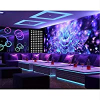 Xbwy パーソナライズされた3Dステレオの壁紙クールなナイトクラブフラワーバーテレビ3Dのリビングルームの背景の壁紙-200X140Cm