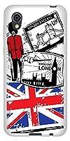 au AQUOS sense2 SHV43 TPU ソフト ケース カバー 574 LONDON 素材ホワイト UV印刷