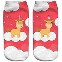 HENGSONG Women Girls Cartoon Animal Socks Sports Stockings Footwear Colorful Boot Socks