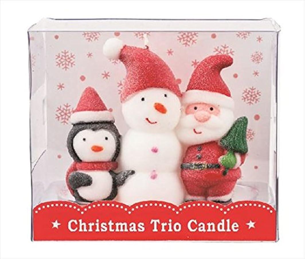 修復不合格タクシーカメヤマキャンドル(kameyama candle) クリスマストリオキャンドル 「 スノーマン 」