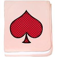 CafePress – Polka Dot Spade – スーパーソフトベビー毛布、新生児おくるみ ピンク 07801914406832E