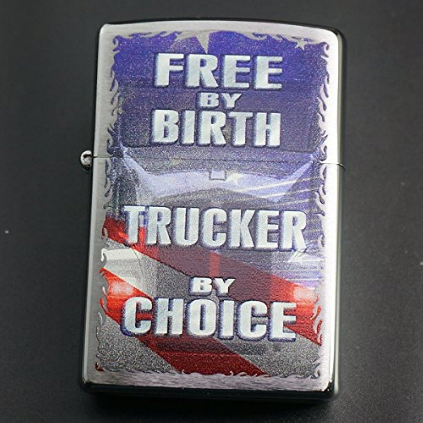 かわす衝動換気するzippo Free by Birth Trucker by Choice 29078
