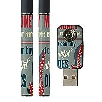 スマコレ プルームテック ploom tech バッテリー スティック 専用スキンシール USB充電器 カバー ケース 保護 フィルム タバコ 英語 星 靴 010854