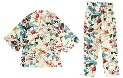 甘い着物パジャマコットンとリネン女性の秋と冬のパジャマ...
