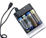 エアージェイ xportermobilecharger スマートフォン用 モバイルバッテリー単三乾電池式充電器  ブラック BJ-XP1