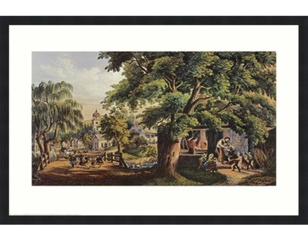 年金驚いた米国村Blacksmith by Currier and Ives – 28 x 22インチ – アートプリントポスター LE_398737-F101-28x22