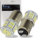 Safego 1157 BAY15D LED テール ホワイトs25 ダブル球 p21w/5w 54連SMD 3014 車用 駐車ライト ブレーキランプ ターンシグナルランプ 電球 交換用 6000K 12v 2個入り