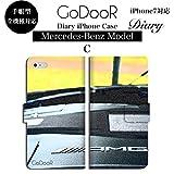 GoDooR グッダー デザイン256 iPhone 全機種対応 手帳型 ダイアリー スマホケース ブランド メルセデス ベンツ 車 エンブレム ハンドル レトロ AMG アーマーゲイ アイフォン 7 plus 6s 6 SE 5s ケース カワイイ かっこいい おしゃれ 可愛い 渋い ダンディー ビジネス グッズ iPhone7 ケース Xperia Z3 Z4 Z5 compact premium Galaxy S6 S7 edge