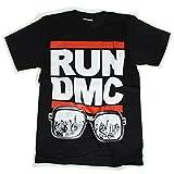 海外製品 HIPHOP RUN DMC ロゴ プリント 半袖 ロック tシャツ [T477] メンズ レディース ロック tシャツ