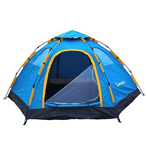 Wnnideo 6-8人 アウトドア キャンプ テントインスタント ワンタッチ テント 防撥水 日焼け止め 組み立て 1分 ドーム 型 テント ワンタッチ式 (幅305cm×奥行240cm×高さ145cm)