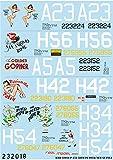 HGWモデルス 1/32 アメリカ軍 P-47D レザーバック 第58戦闘飛行群 ニューギニア上空・国籍マークセット プラモデル用デカール HGW233918
