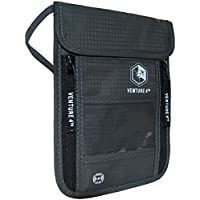 VENTURE 4TH Travel Neck Pouch Neck Wallet with RFID Blocking - Passport Holder to Keep Your Cash and Documents Safe - Get Peace of Mind When Traveling