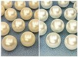 〇〇樹脂ビーズ 樹脂パール 片穴 直径(外径)14mm 27g入り 約19個 パール白 クリーム 片穴 直径14mm,パール白
