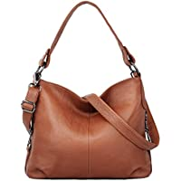YALUXE Genuine Leather Shoulder Bag Stylish Womens Tote Travel Top-Handle