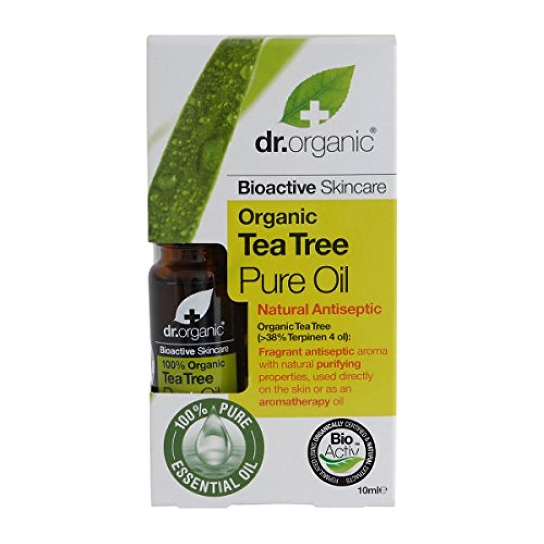ルールステッチ危険にさらされているDr.organic Organic Tea Tree Pure Oil 10ml [並行輸入品]