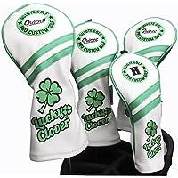 Guiote ゴルフヘッドカバー Golf head covers クラブヘッドカバー ウッドカバー ドライバー 新デザイン 交換可能な番号タグ付き(#2.#3.#4.#5.X) 4個セット