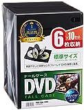 サンワサプライ DVDトールケース 6枚収納×10 ブラック DVD-TN6-10BK