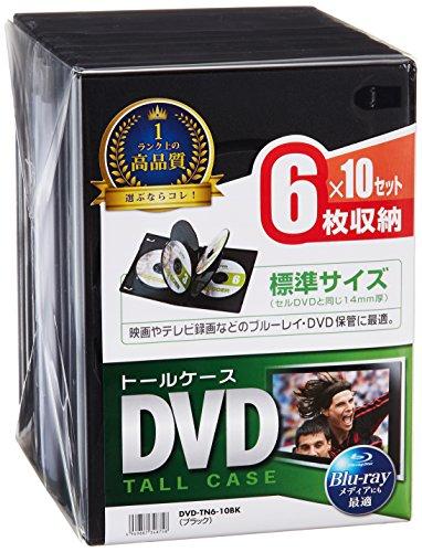 サンワサプライ DVDトールケース 6枚収納×10 ブラック...