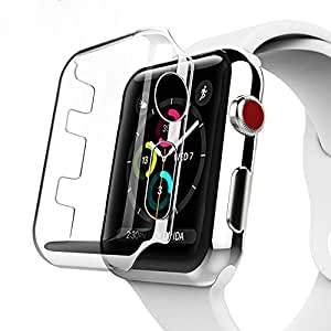 Apple Watch Series 3 ケース Benuo Apple Watch Series3/Series2 クリアケース PC 超軽量 脱着簡単 傷防止 iWatch 3/2 全面液晶保護ケース 透明 アップルウォッチ シリーズ 3/シリーズ 2 カバー (38mm)
