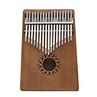 ammoon 17キーカリンバ 親指のピアノ マホガニーウッド 楽器ギフト 音楽愛好家用 4色
